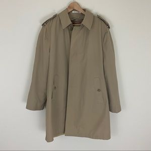 Misty Harbor Khaki Trench 42 Long Zip our Liner
